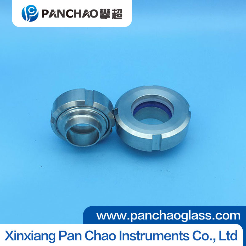 Sanitary stainless steel tank flange sight