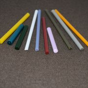 opaque colored glass rod